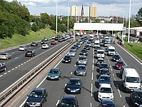 The M8 motorway is the busiest motorway in Scotland, running from Glasgow to Edinburgh