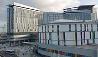 NHS Scotland's Queen Elizabeth University Hospital, Glasgow. It is the largest hospital campus in Europe.