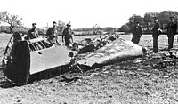 Rudolf Hess, Deputy Führer of Nazi Germany, crashed his plane at Bonnyton Moor in the Scottish central belt in an attempt to make peace.