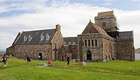 Iona Abbey, an early centre of Christianity in Scotland