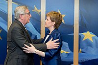 The president of the European Commission, Jean-Claude Juncker and first minister Nicola Sturgeon