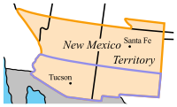 Confederate Arizona (outlined in blue)