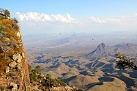 The Chihuahuan desert terrain mainly consists of basins broken by numerous small mountain ranges.
