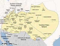 Map of the Southwestern United States as defined by the Learning Center of the American Southwest
