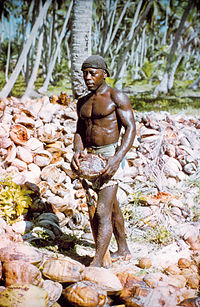 An unnamed Chagossian on Diego Garcia in 1971 shortly before the British expelled the islanders when the island became a U.S. military base. The man spoke a French-based creole language and his ancestors were most likely brought to the uninhabited island as slaves in the 19th century.