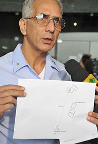 Brigadier Cardoso speaks to the media about the search for the crashed aircraft.