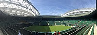 Centre Court at Wimbledon in May 2019