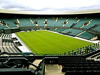 View from seats of Wimbledon Court No. 1
