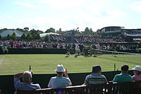 Court 10. On the outside courts there is no reserved seating.