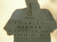 Parker's grave at Lincoln Cemetery