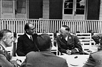 Subhas Chandra Bose (second from left) with Heinrich Himmler (right), 1942