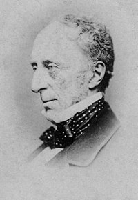 Sir Charles Wood (1800–1885) was President of the Board of Control of the East India Company from 1852 to 1855; he shaped British education policy in India, and was Secretary of State for India from 1859 to 1866.