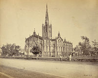 St. Paul's Cathedral was built in 1847 and served as the chair of the Bishop of Calcutta, who served as the metropolitan of the Church of India, Burma and Ceylon.