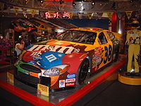 Sadler's 2003 No. 38 RYR car on display at M&M's World