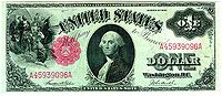 Series of 1917 $1 United States bill