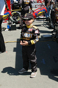 A young Nemechek in the pits at Infineon Raceway in 2005
