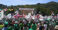 Traditional rally of Lega Nord in Pontida, 2011