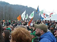 Traditional rally of Lega Nord in Pontida, 2013