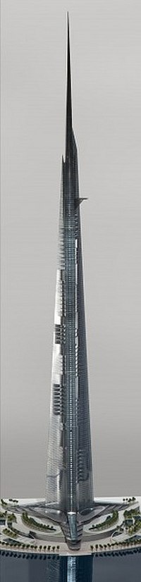 Detailed rendering of Jeddah Tower cut out to show floors