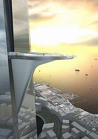 The large, outdoor sky terrace will overlook the Red Sea and have an area of over 7500 ft2.