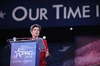 Ernst speaking at the Conservative Political Action Conference