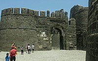 Front view of Daulatabad Fort