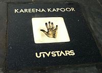 On 28 March 2012, Kapoor inaugurated the Bollywood Walk of the Stars where she received a hand-print of her own.