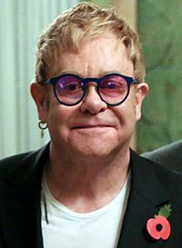 Elton John scored his first solo number one in 1990.