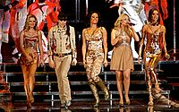 """Spice Girls became the biggest act of the decade after they dominated the charts with eight out of their nine number one singles achieved in the '90s; """"Wannabe"""", """"Say You'll Be There"""", """"2 Become 1"""", """"Mama"""", """"Spice Up Your Life"""", """"Too Much"""", """"Viva Forever"""" and """"Goodbye""""."""