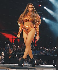 Beyoncé performing during The Formation World Tour in 2016. The tour grossed $256 million from 49 sold-out shows.