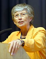 Carol Bellamy, American politician; former executive director of the United Nations Children's Fund (UNICEF); Law '68