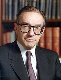 Alan Greenspan, American economist and public official; former long-time Chairman of the Federal Reserve; Stern '48, '50, '77