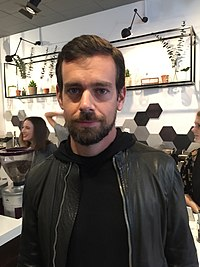 Jack Dorsey, American billionaire and internet entrepreneur, founder and CEO of Twitter and Square, Inc.; CAS (dropped out)