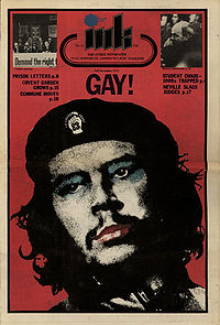 The 1971 GLF cover version of Ink magazine, printed in London