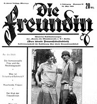 May 14, 1928, issue of German lesbian periodical Die Freundin (The Girlfriend)