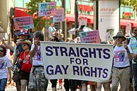 """37th Annual """"Straights For Gay Rights"""" in Berkeley, California"""