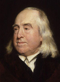Jeremy Bentham, an early advocate for the decriminalisation of homosexuality