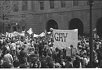 Gay liberation demonstration in Washington, DC, in the early 1970s