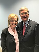 Lott with Cindy Hyde-Smith in 2018