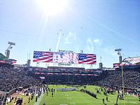 The Star-Spangled Banner performed before a Jacksonville Jaguars game at TIAA Bank Field.