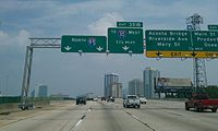 I-95 passing by downtown Jacksonville