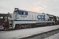 CSX 5508 ready to put office car on Silver Meteor