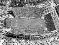 Gator Bowl Stadium, now TIAA Bank Field, where the annual Gator Bowl has taken place since 1946