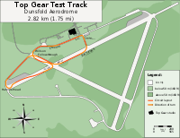 The Top Gear Test Track used in Power Laps, along with the show's celebrity segment