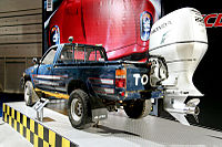 """Jeremy Clarkson's """"Toybota"""" Hilux pick-up truck from the amphibious cars challenge"""
