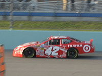 Franchitti racing in the 2007 Ford 300 at the Homestead-Miami Speedway