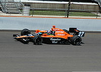 Practicing for the 2007 Indy 500
