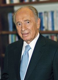 Shimon Peres former President of Israel, Nobel Peace Prize recipient<ref>{{cite web|url=http://nobelprize.org/nobel_prizes/peace/laureates/1994/peres-bio.html |title=Shimon Peres - Biography |publisher=Nobelprize.org |date=1992-07-13 |access-date=2012-11-23}}</ref>