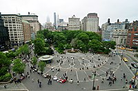 """Union Square, the location often referred to as New School's geographic """"nucleus""""."""