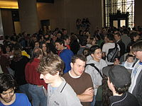 The start of the MIT Mystery Hunt in 2007